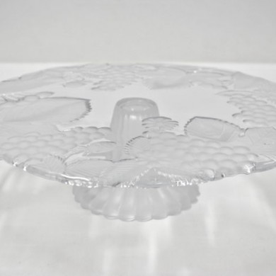 Cake Plate Footed Glass