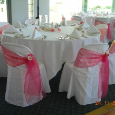 Chair Covers with Sash Hire Rockingham