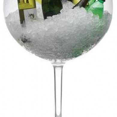 Giant Wine Glass Cooler Hire Rockingham