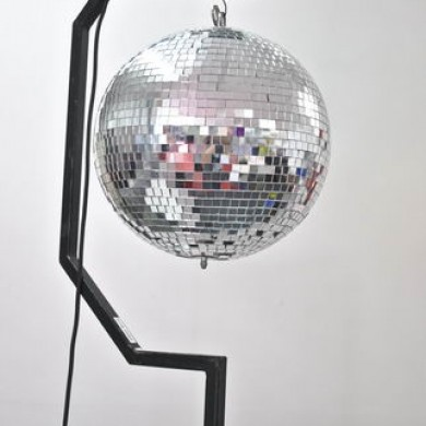 Mirror Ball on Stand Hire Rockingham