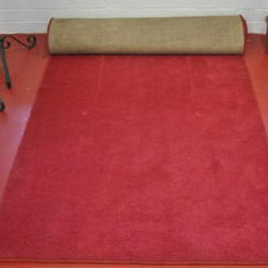 Red or Black or Pink or White Carpet
