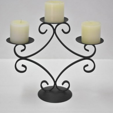 Wrought Iron Candleabra Small